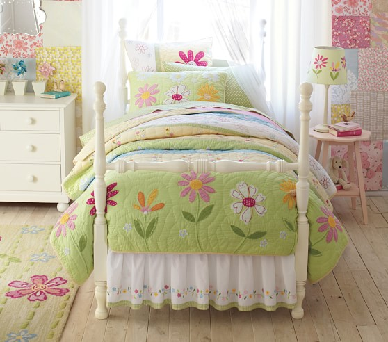 Bed Skirt Pottery Barn Kids, Daisy Garden Quilted Bedding Pottery Barn