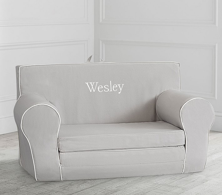 Gray With White Piping Anywhere Sofa Lounger 174 Kids Lounge