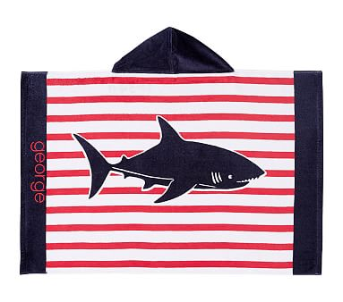 Breton Stripe Shark Baby Beach Wrap Pottery Barn Kids