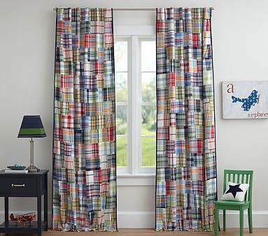 Madras Kids Blackout Curtain Pottery Barn Kids