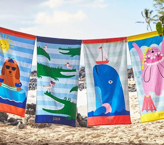 Dog Kids Beach Towel   Pottery Barn Kids