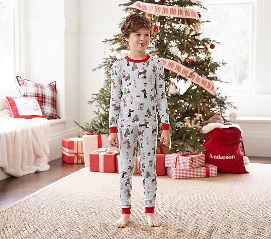 Holiday Dog Tight Fit Kids Pajama Pottery Barn Kids