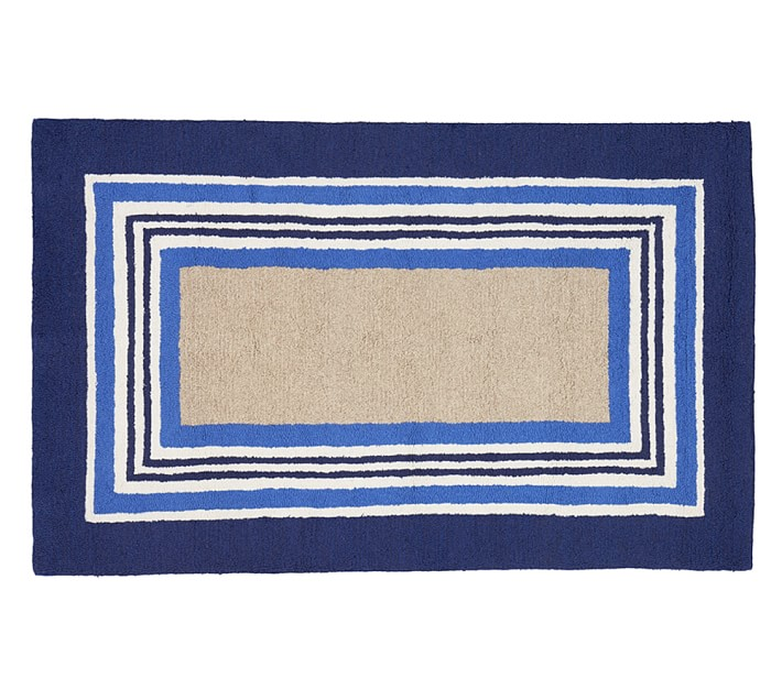 Tailored Striped Rug Blue Patterned