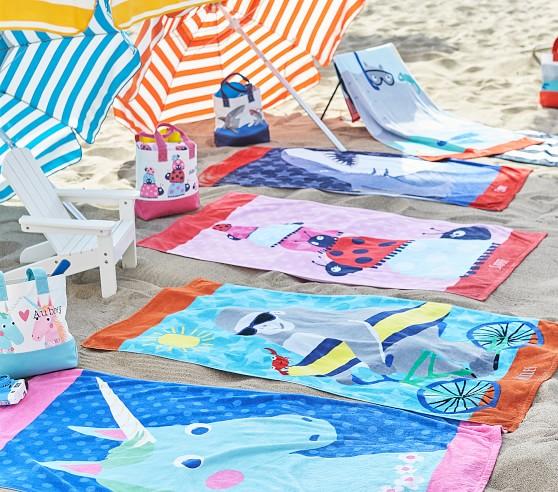 Ladybug Kids Beach Towel   Pottery Barn Kids
