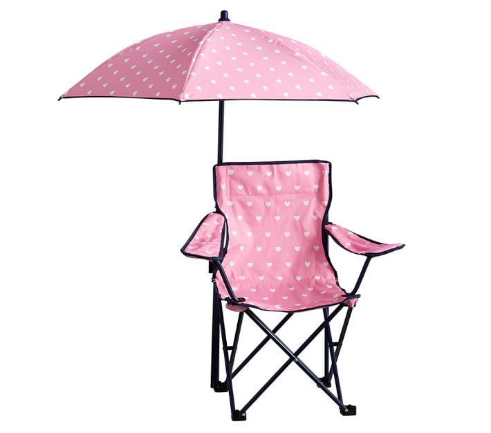 Girl S Freeport Kids Beach Chair Amp Umbrella Pottery Barn