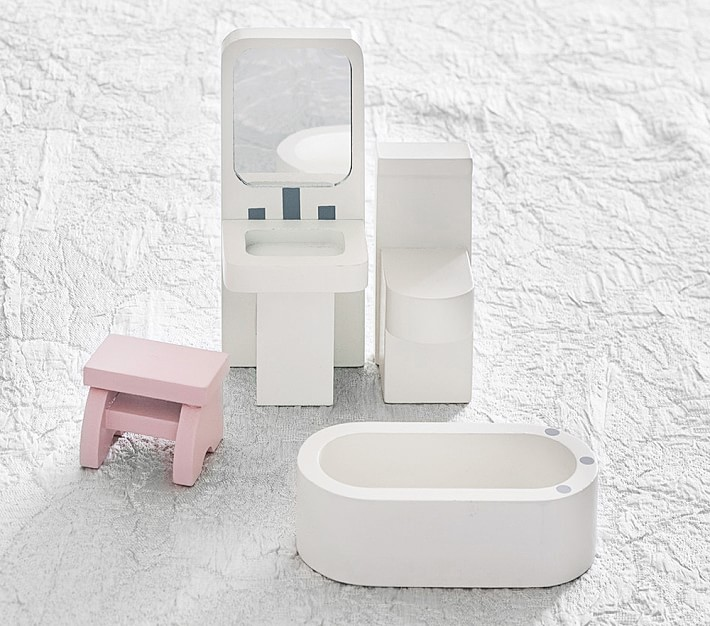 Dollhouse Bathroom Set Dollhouse Furniture Pottery Barn Kids