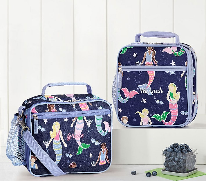 Navy Mermaid Kids Lunch Box Pottery Barn Kids