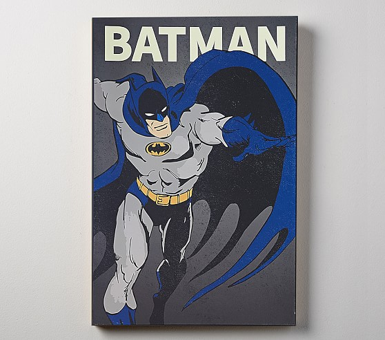 Dc Comics Glow In The Dark Wall Art Batman Kids Wall Art Pottery Barn Kids