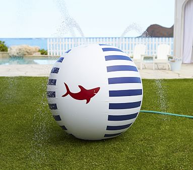 Navy Shark Kids Sprinkler Ball Outdoor Toys Pottery
