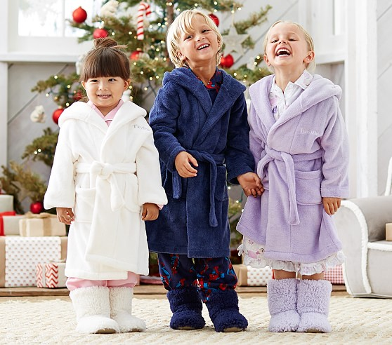 Fleece Kids Bathrobes | Pottery Barn Kids