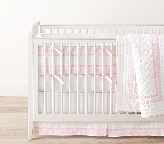 Light Pink Harper Baby Bedding Crib Bedding Pottery Barn Kids