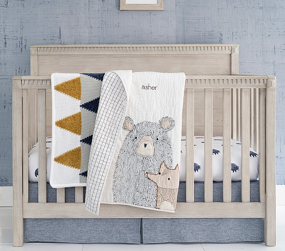 Asher Bear Crib Bedding Sets Pottery, Baby Cot Bedding Accessories