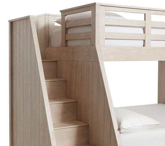 Belden Twin Over Full Stair Loft Bed For Kids Pottery Barn Kids