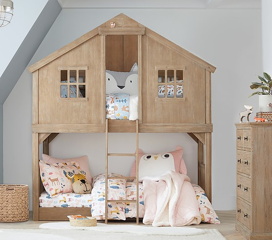 Tree House Twin Over Twin Kids Bunk Bed Pottery Barn Kids