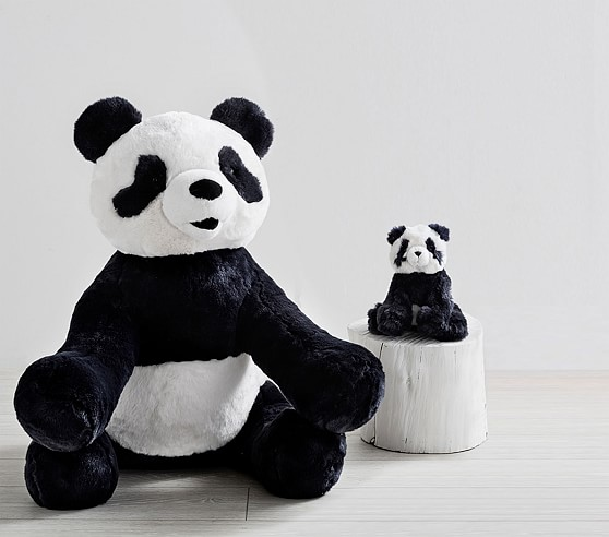 Plush Navy Panda Collection Kids Stuffed Animal Pottery Barn Kids