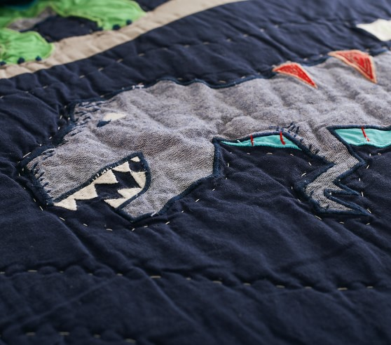 Dinosaurs Crib  Toddler  Baby Quilt 40 x 50 FREE SHIPPING