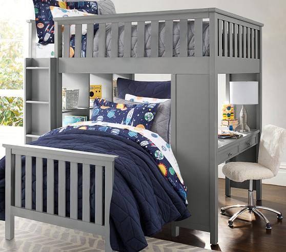 Elliott Kids Loft System Twin Bed Set Pottery Barn Kids
