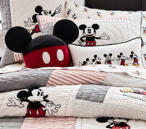 Disney Mickey Mouse Bedding Look, Disney Bed Sheets Queen Size