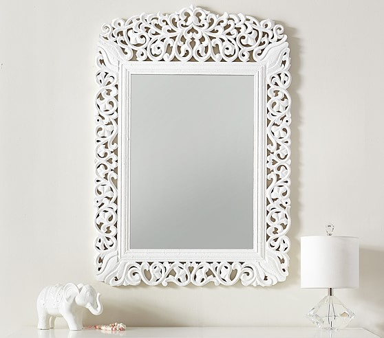 Carved Wooden Kids Mirror Pottery, Carved Wood Mirror Pottery Barn