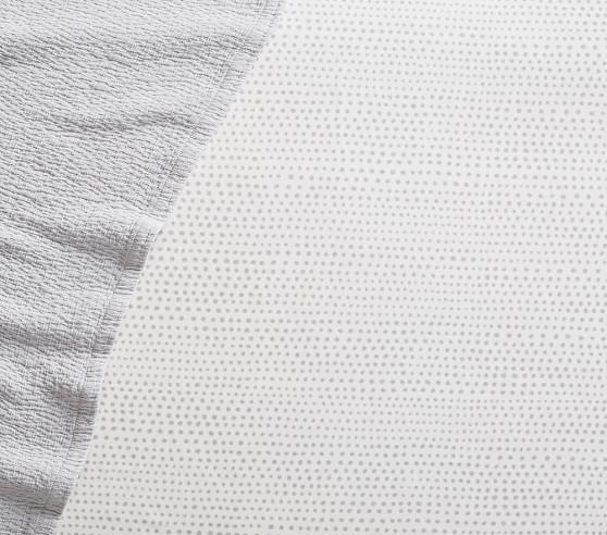 QUICK SHIP Grey black dot crib sheet grey fitted crib sheets mini crib sheet modern crib sheet dot toddler bedding dot baby bedding