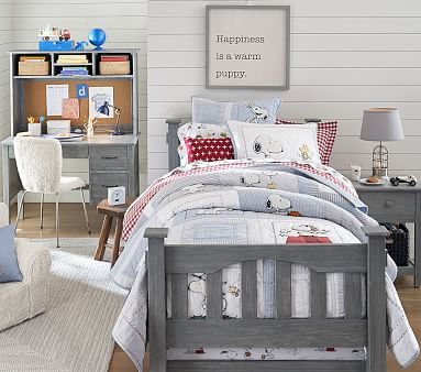 Pottery Barn Kids Peanuts Organic Duvet Cover Full//Queen and two standard shams