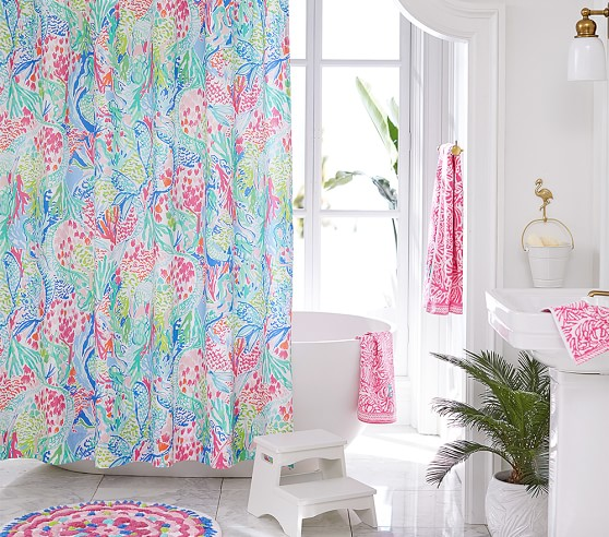Lilly Pulitzer Mermaid Cove Kids Shower, Pottery Barn Lilly Pulitzer Curtains