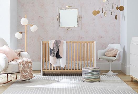 White Baskets Glam Natural Nursery