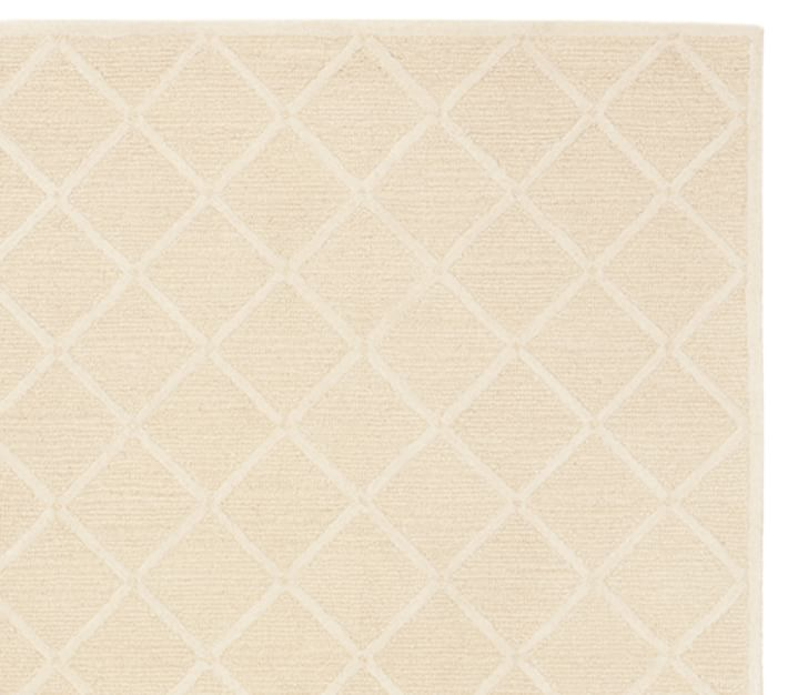 Lux Trellis Rug Creme Patterned Rugs Pottery Barn Kids