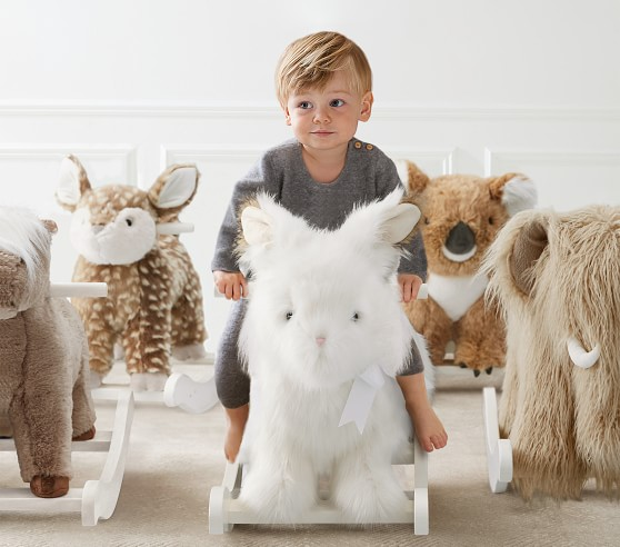 Woolly Mammoth Plush Nursery Rocker Animal Rocker