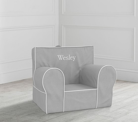 Gray With White Piping Anywhere Chair