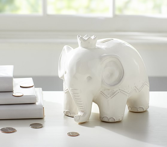 Elephant Coin Bank For Kids Pottery