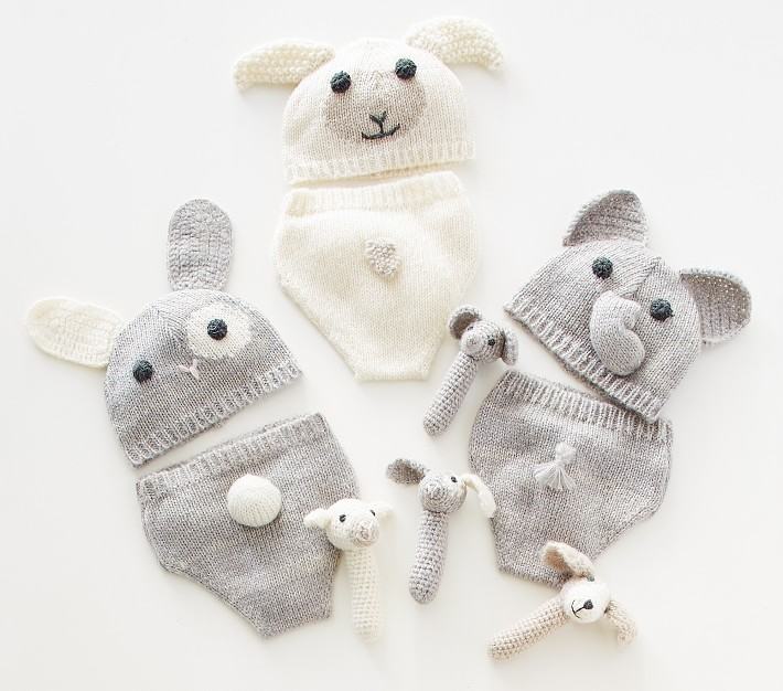 2020 Newborn Grey Elephant Costume,Handmade Knit Crochet Baby Boy ... | 626x710