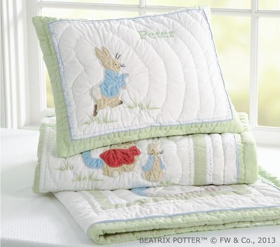 Beatrix Potter Nursery Set, Peter Rabbit Baby Boy Bedding