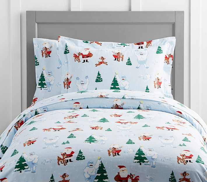 Rudolph 174 And Bumble 174 Flannel Kids Duvet Cover Pottery