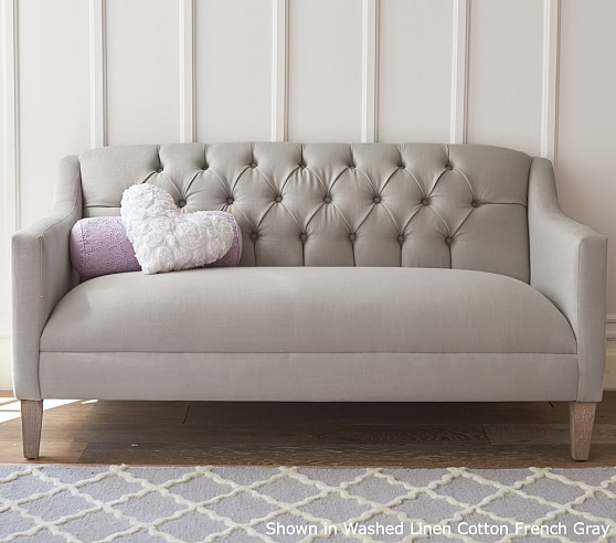 Luella Tufted Sofa Pottery Barn Kids