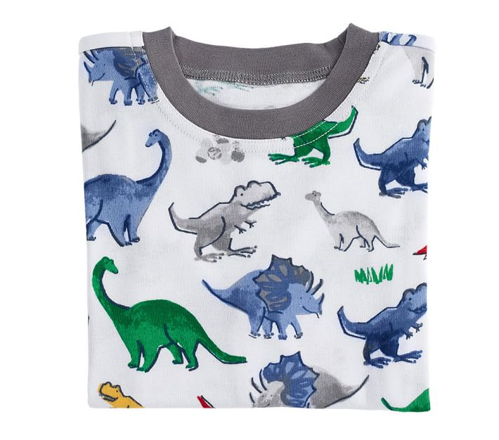 Dino Safari Tight Fit Kids Pajamas Pottery Barn Kids