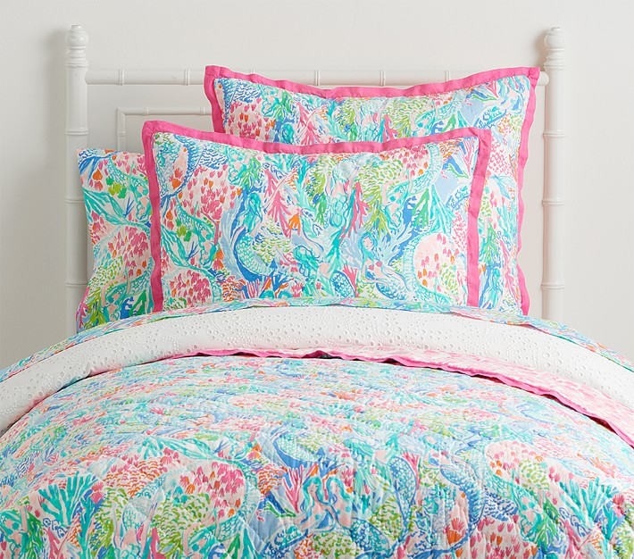 Lilly Pulitzer Mermaid Cove Kids Comforter Set Pottery