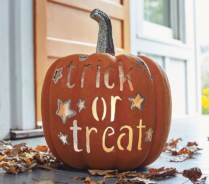 Trick Or Treat Pumpkin Decor Halloween Decoration