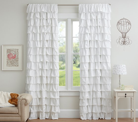 Shop Ruffle Blackout Curtain Panel from Pottery Barn Kids on Openhaus