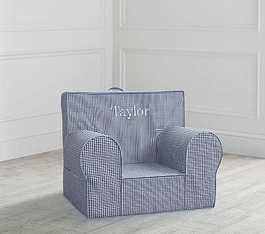 My First Navy Gingham Anywhere Chair 174 Toddler Armchair