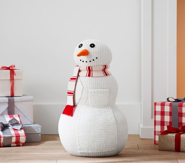 Snowman With Scarf Hearth Decor Christmas Decorations
