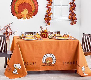 Peanuts® Thanksgiving Tablecloth   Kids Table Decor ...