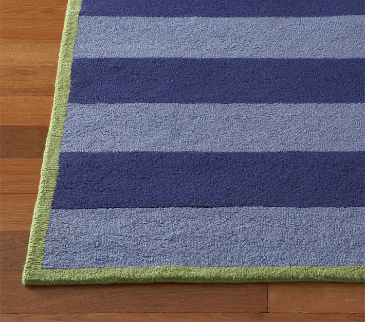Boys Rugby Striped Rug Patterned