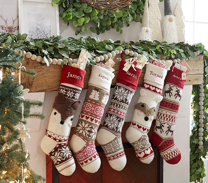 Classic Quilted Stocking Collection: Classic Fair Isle Christmas Stocking Collection
