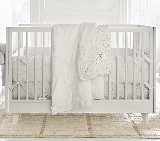 Metallic Star Crib Bedding Sets