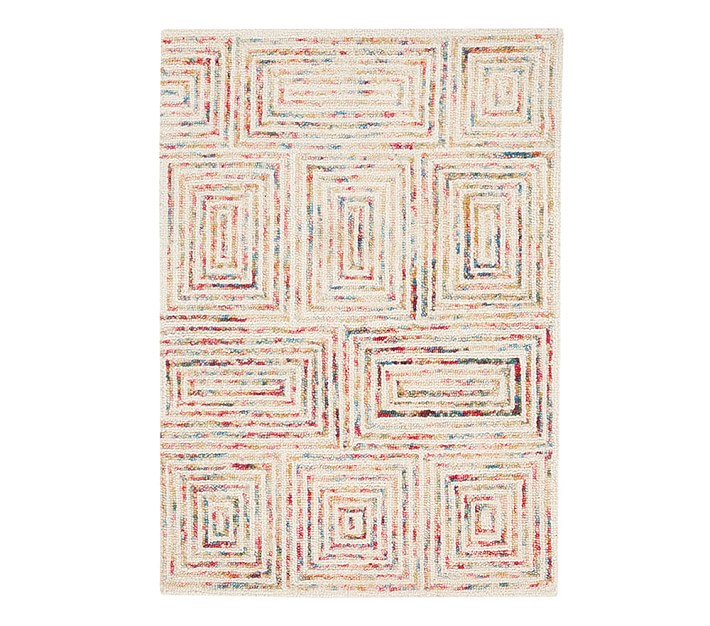Capel Scroll Tile Rug Patterned Rugs Pottery Barn Kids