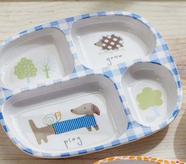 Geo Animal Divided Plates Pottery Barn Kids