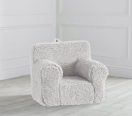 Gray Cozy Sherpa Anywhere Chair
