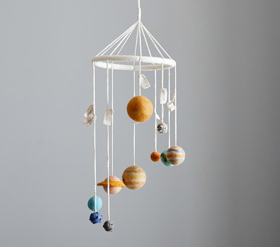Planet Wool Ceiling Mobile Pottery Barn Kids