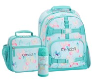 Potterybarn Mackenzie Aqua Gigi Butterfly Backpack & Lunch Bundle, Set Of 3